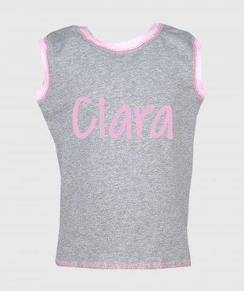 Sleeveless T-shirt Grey/Pink