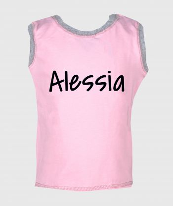 Sleeveless T-shirt Pink/Grey