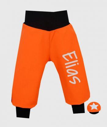 Waterproof Softshell Pants Neon Orange