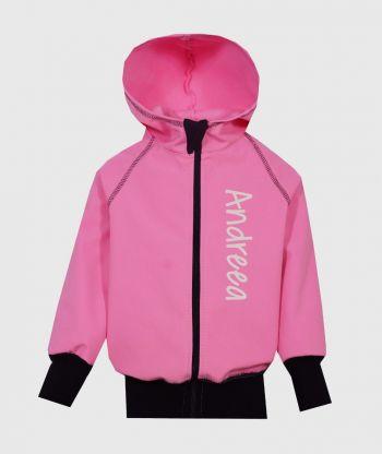 Waterproof Softshell Hoodie Pink