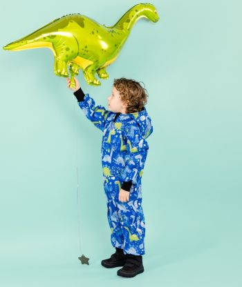 Waterproof Softshell Overall Comfy Dino Drawings Jumpsuit