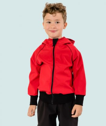 Waterproof Softshell Hoodie Red