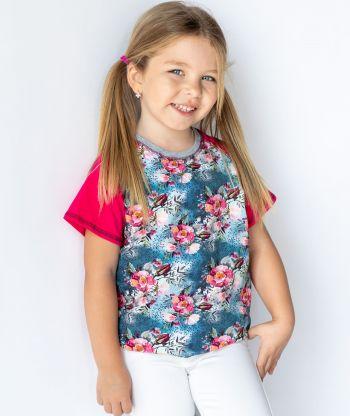 T-shirt Magenta Wild Roses