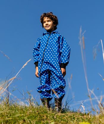 Waterproof Softshell Overall Comfy Stars Blue Jumpsuit
