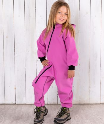 Waterproof Softshell Overall Comfy Lilac Jumpsuit
