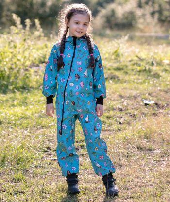 Waterproof Softshell Overall Comfy Hawaiian Girl Jumpsuit