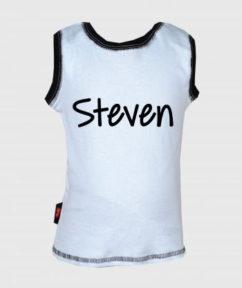Sleeveless T-shirt Light Blue/Black