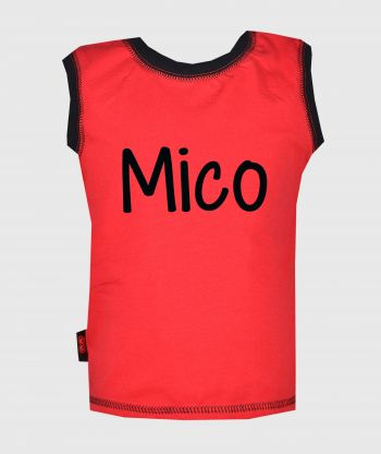 Sleeveless T-shirt Red/Black