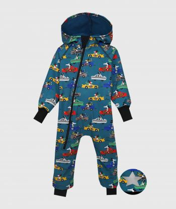 Waterproof Softshell Overall Comfy Racing Dogs Jumpsuit