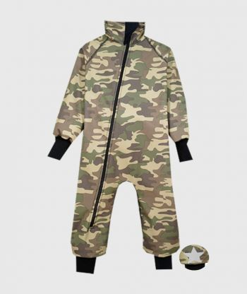 Waterproof Softshell Overall Comfy Military Camouflage Bodysuit