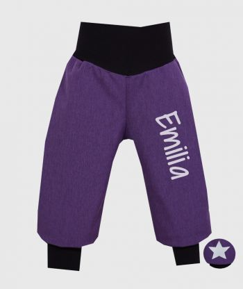 Waterproof Softshell Pants Purple Melange