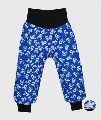Waterproof Softshell Pants Skulls Blue