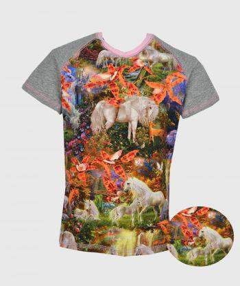 T-shirt Unicorns Fantasy Grey